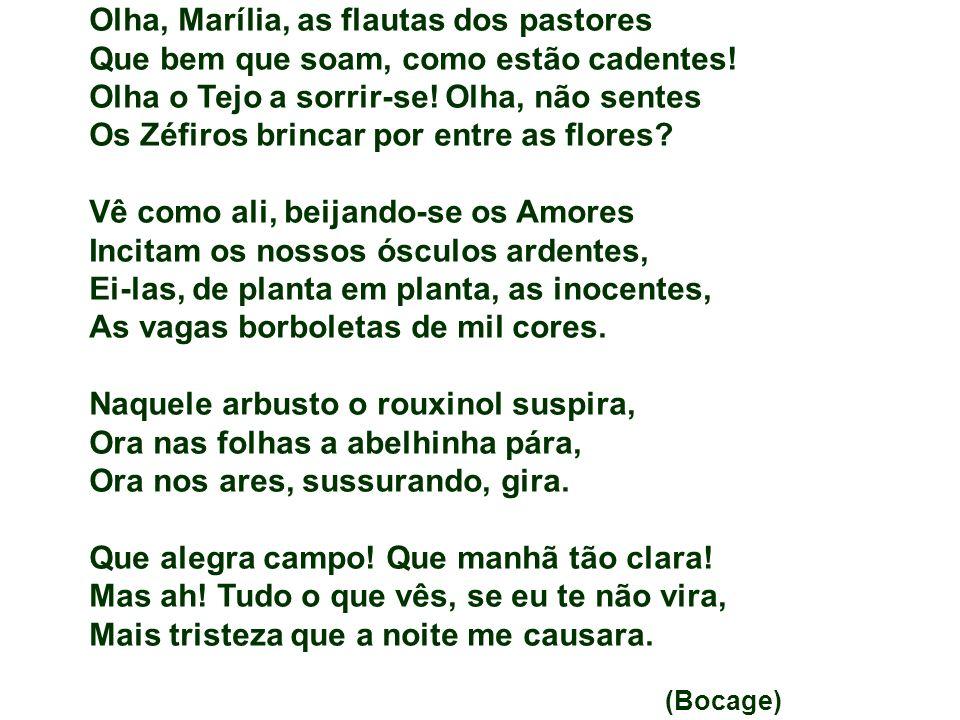 Olha, Marília, as flautas dos pastores