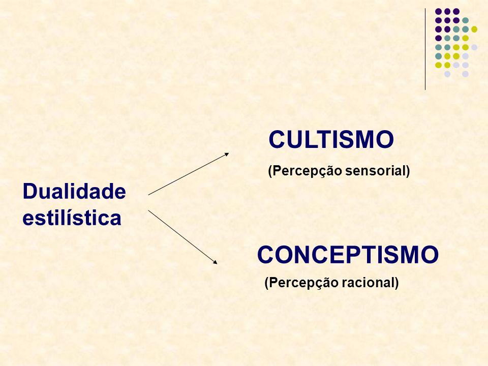 CULTISMO CONCEPTISMO Dualidade estilística (Percepção sensorial)