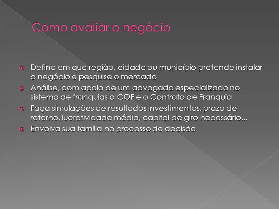 Como avaliar o negócio Defina em que região, cidade ou município pretende instalar o negócio e pesquise o mercado.