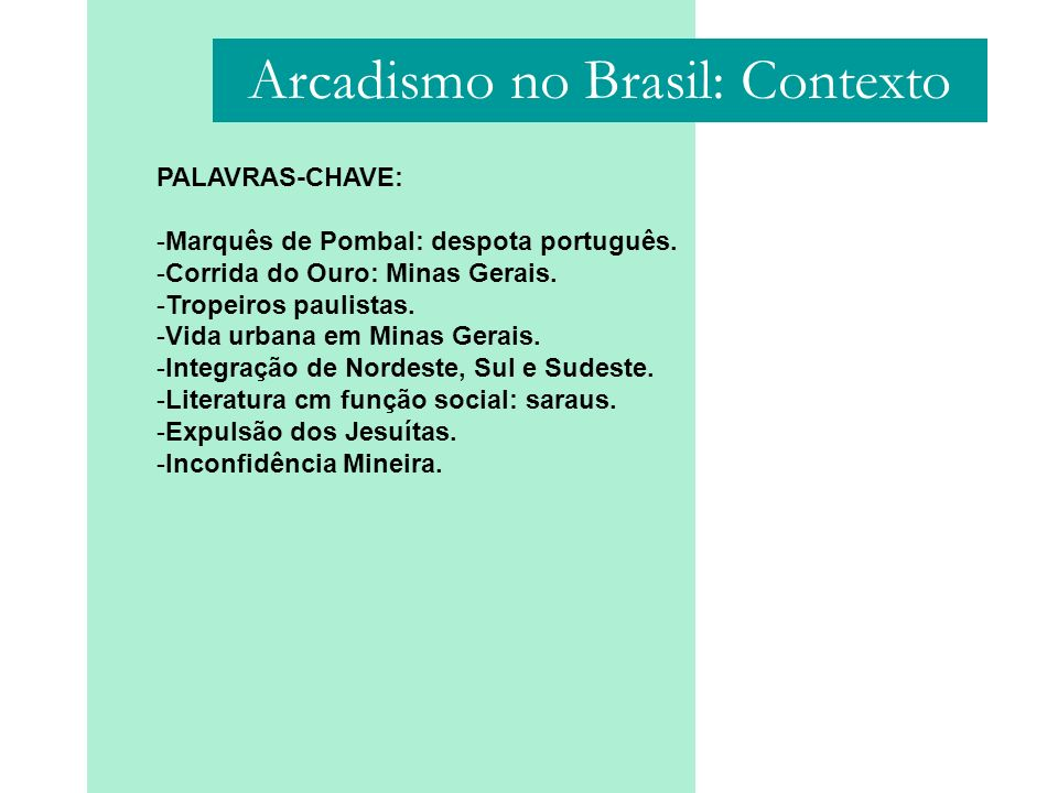 Arcadismo no Brasil: Contexto