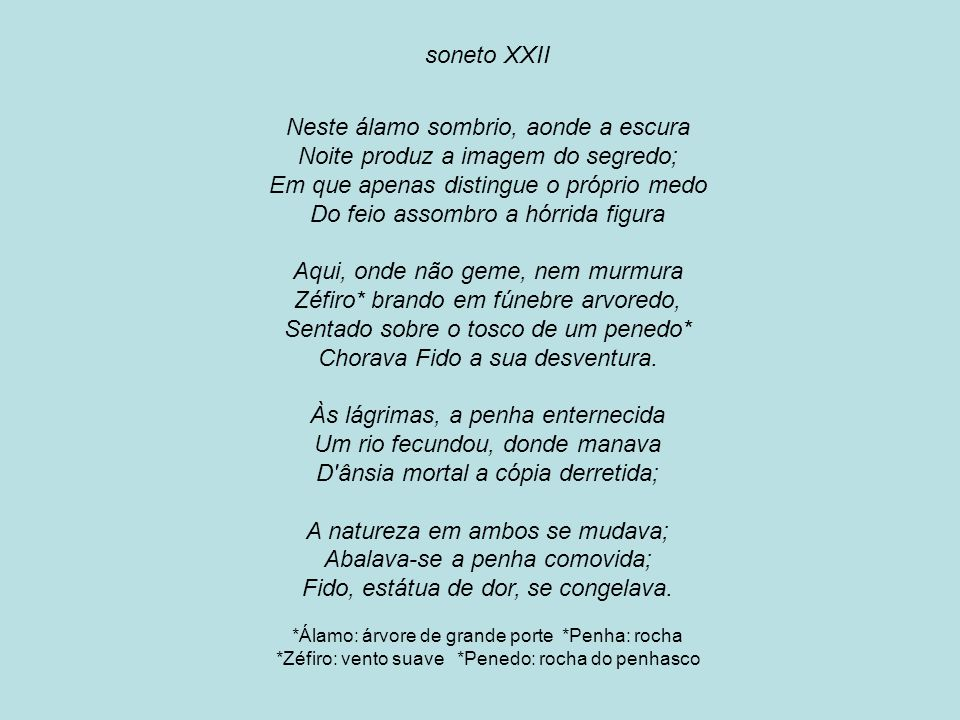soneto XXII