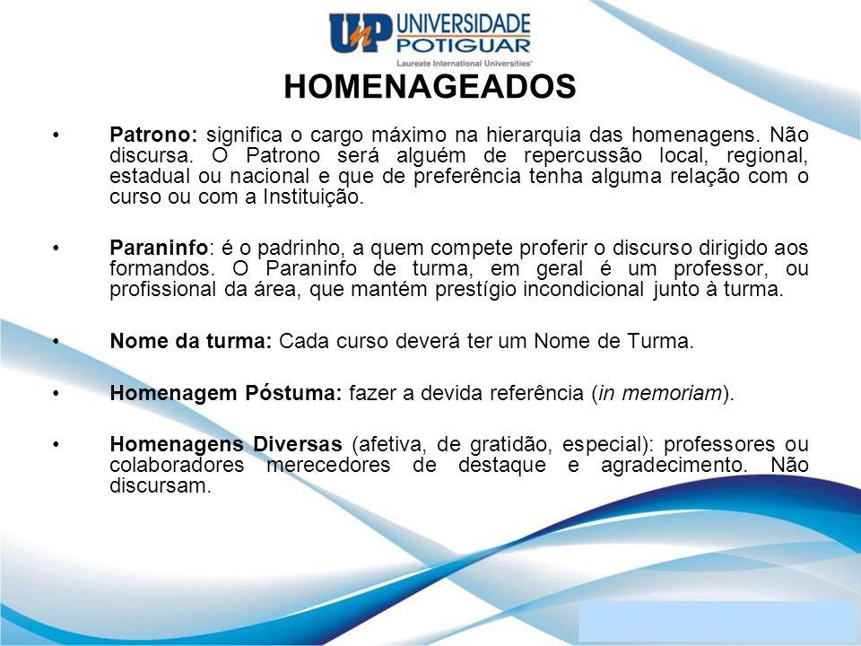 HOMENAGEADOS