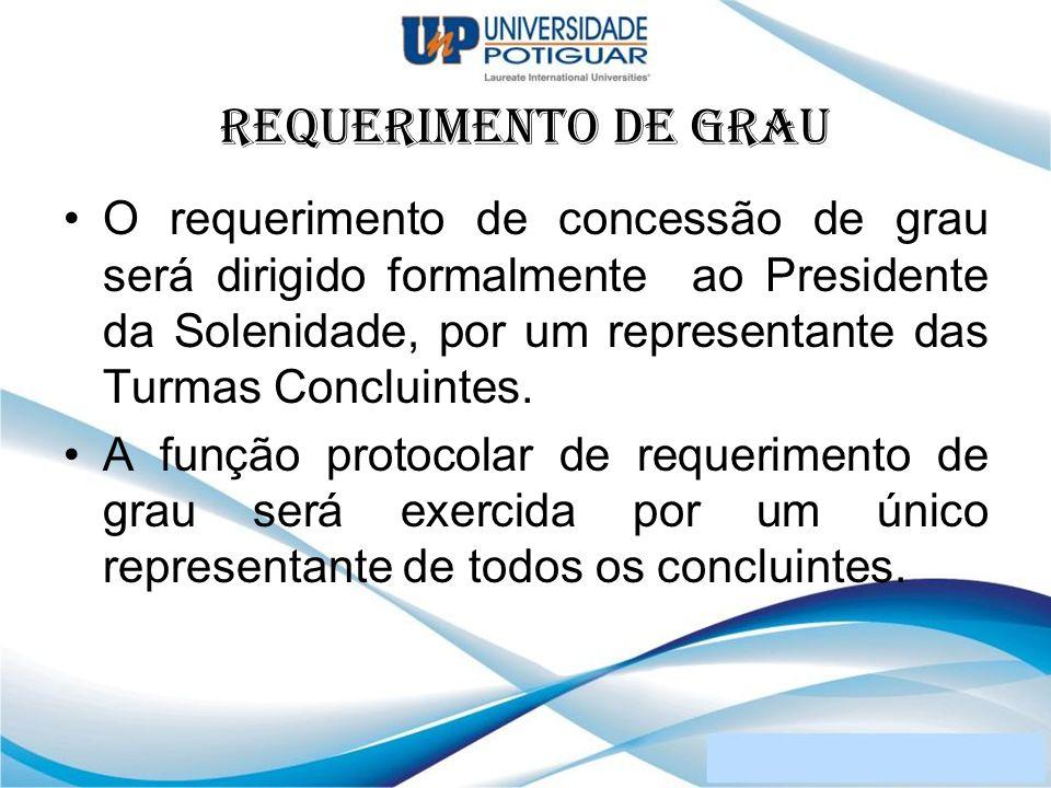 REQUERIMENTO DE GRAU