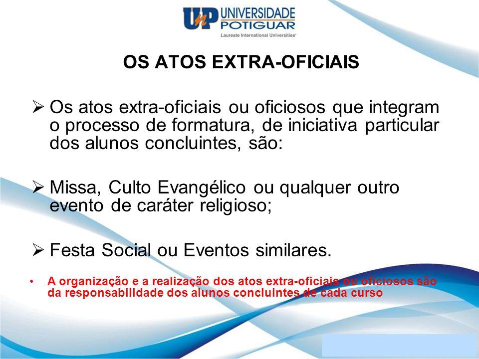 OS ATOS EXTRA-OFICIAIS