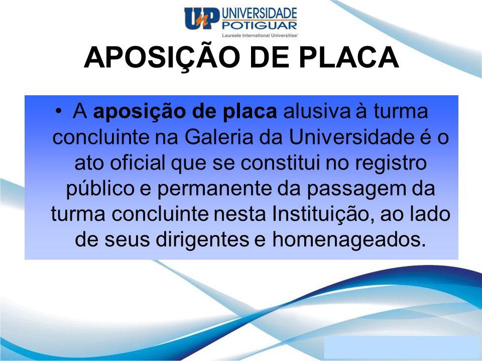 APOSIÇÃO DE PLACA