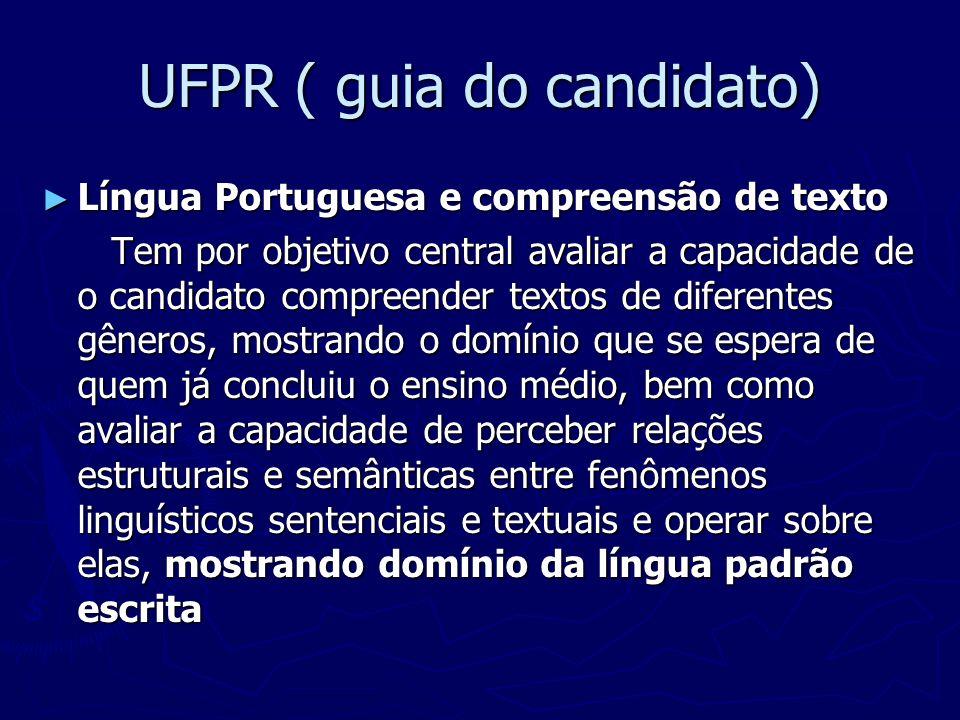 UFPR ( guia do candidato)