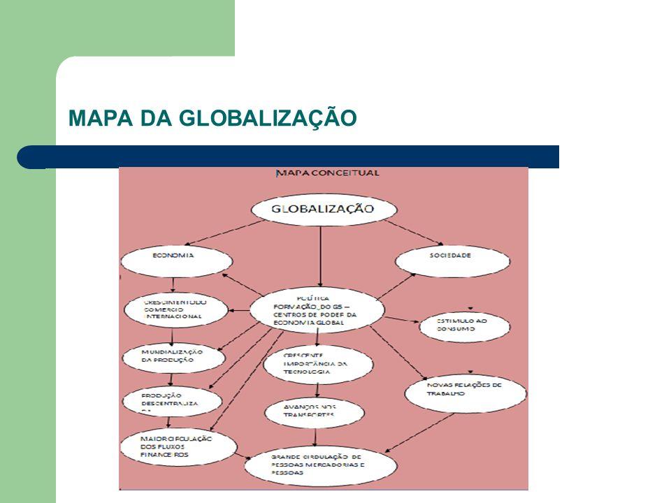 MAPA DA GLOBALIZAÇÃO