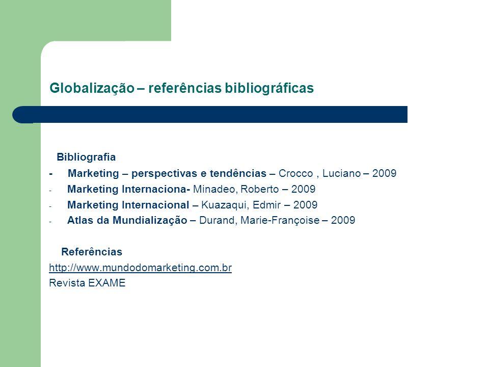 Globalização – referências bibliográficas