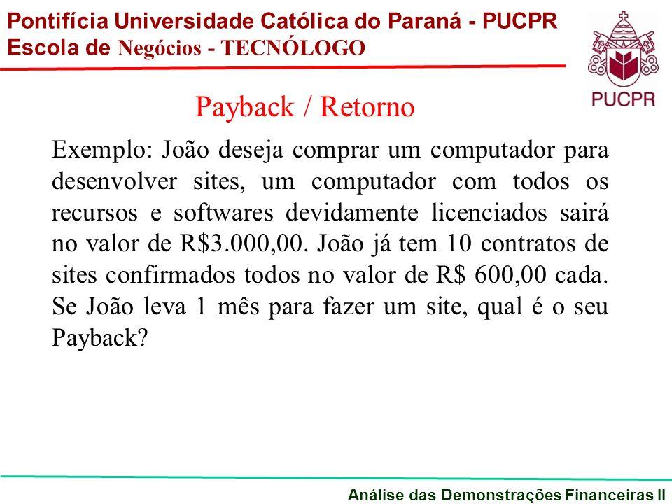 Exemplo: João deseja comprar um computador para desenvolver sites, um computador com todos os recursos e softwares devidamente licenciados sairá no valor de R$3.000,00.