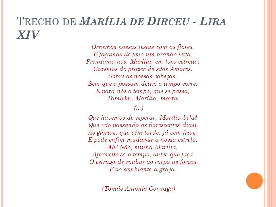 Trecho de Marília de Dirceu - Lira XIV