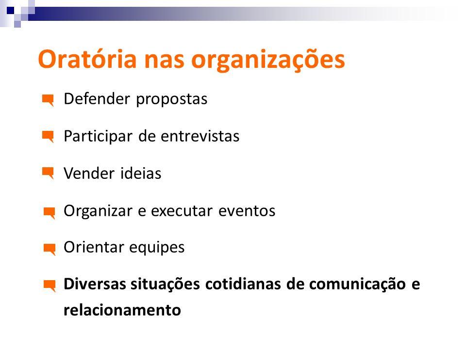 Oratória nas organizações