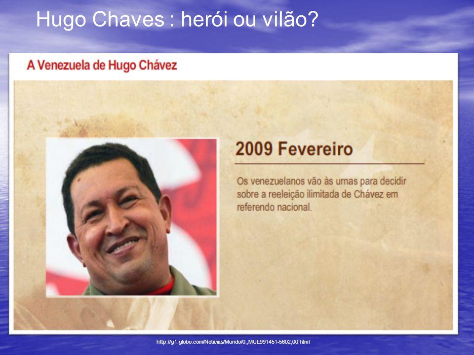 Hugo Chaves : herói ou vilão