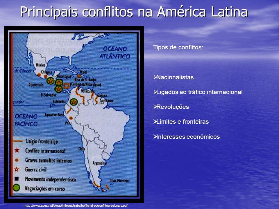 Principais conflitos na América Latina
