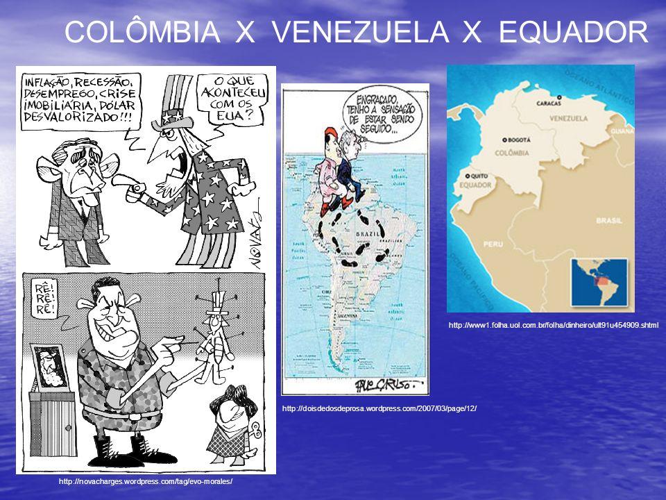 COLÔMBIA X VENEZUELA X EQUADOR