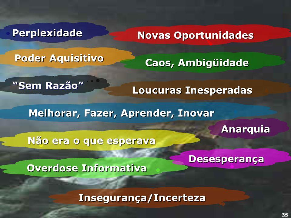 Melhorar, Fazer, Aprender, Inovar Insegurança/Incerteza