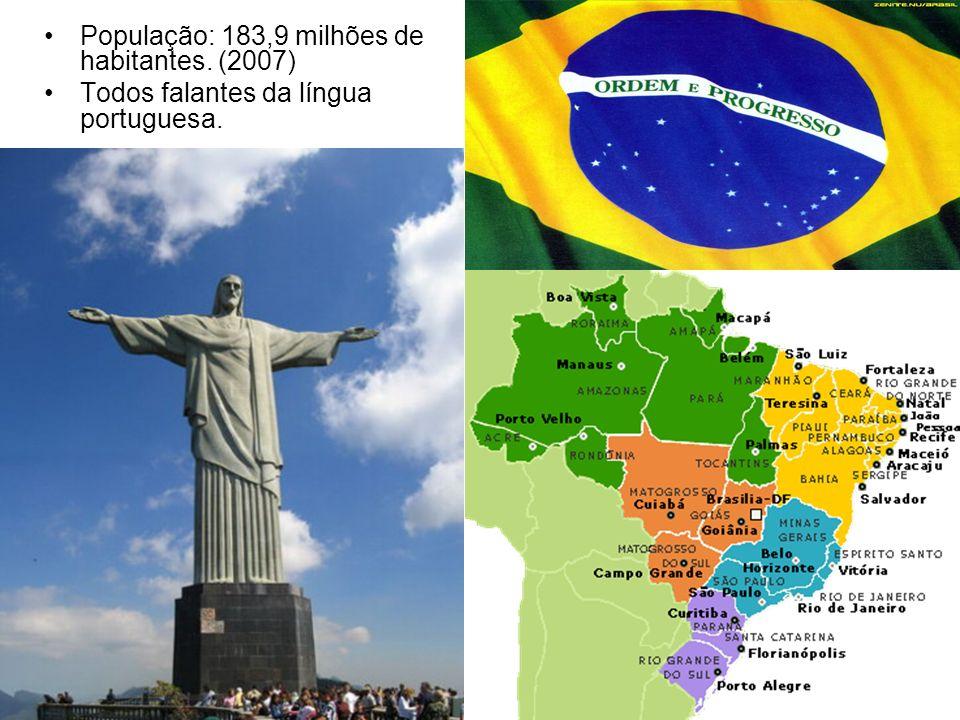População: 183,9 milhões de habitantes. (2007)