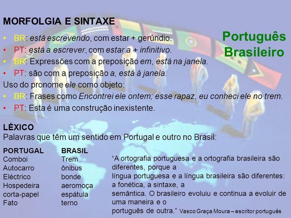 Português Brasileiro MORFOLGIA E SINTAXE