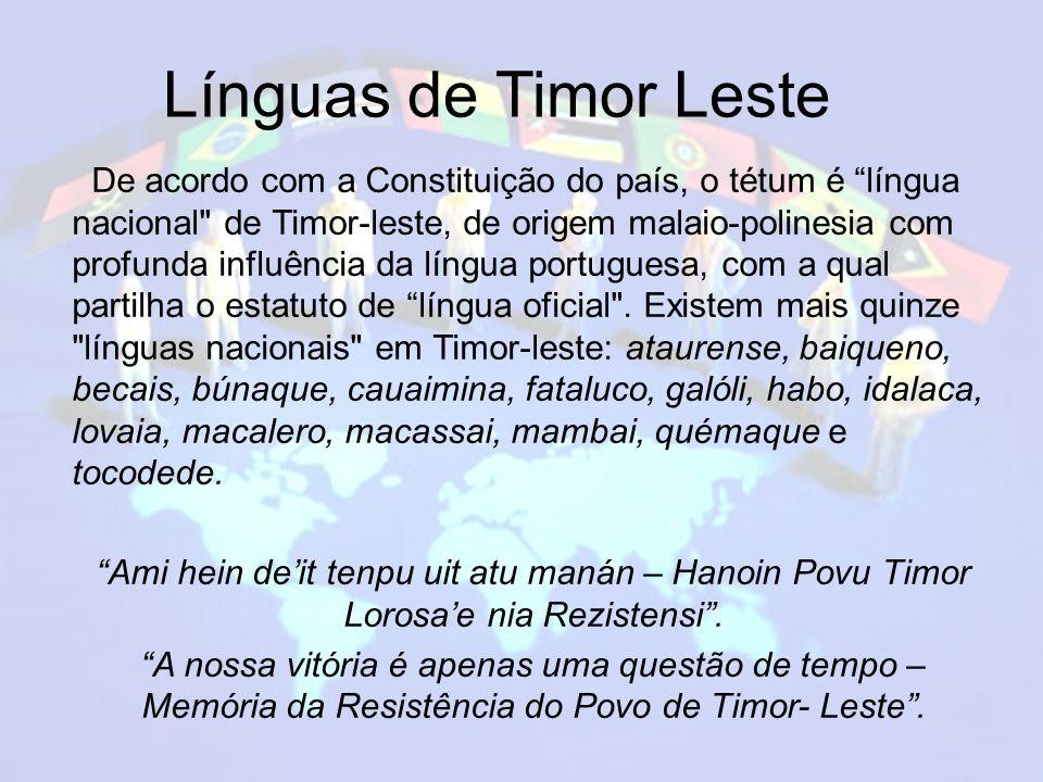 Línguas de Timor Leste Línguas de Timor Leste