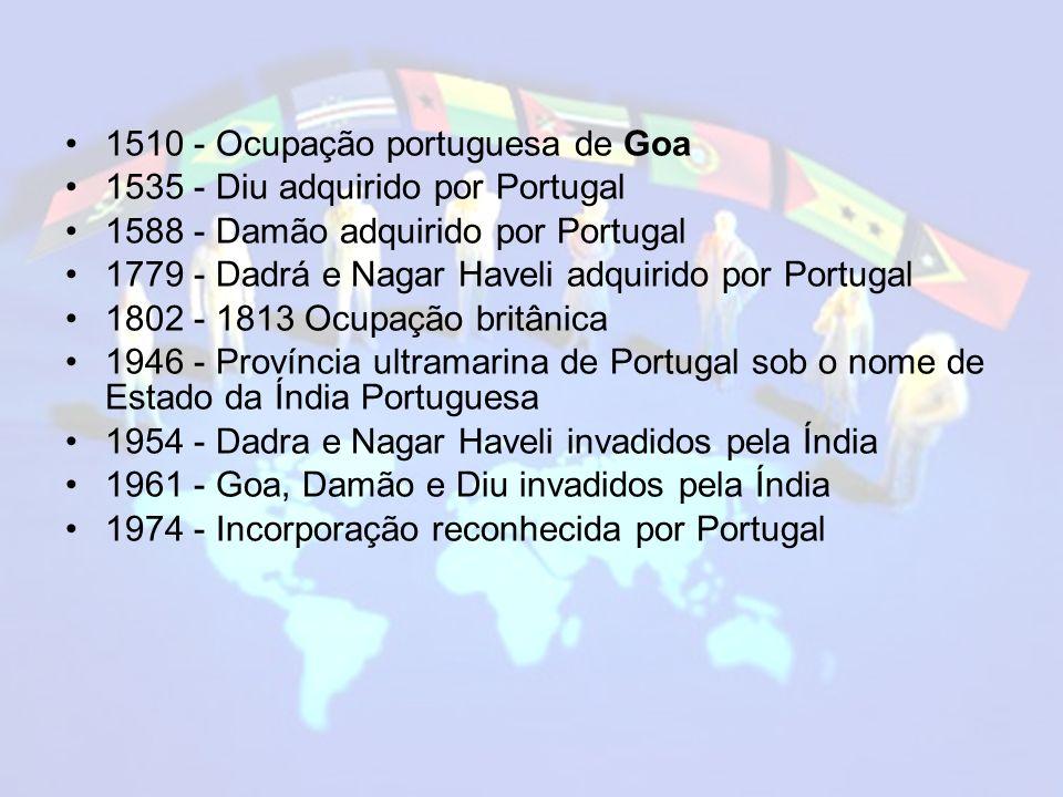 1510 - Ocupação portuguesa de Goa
