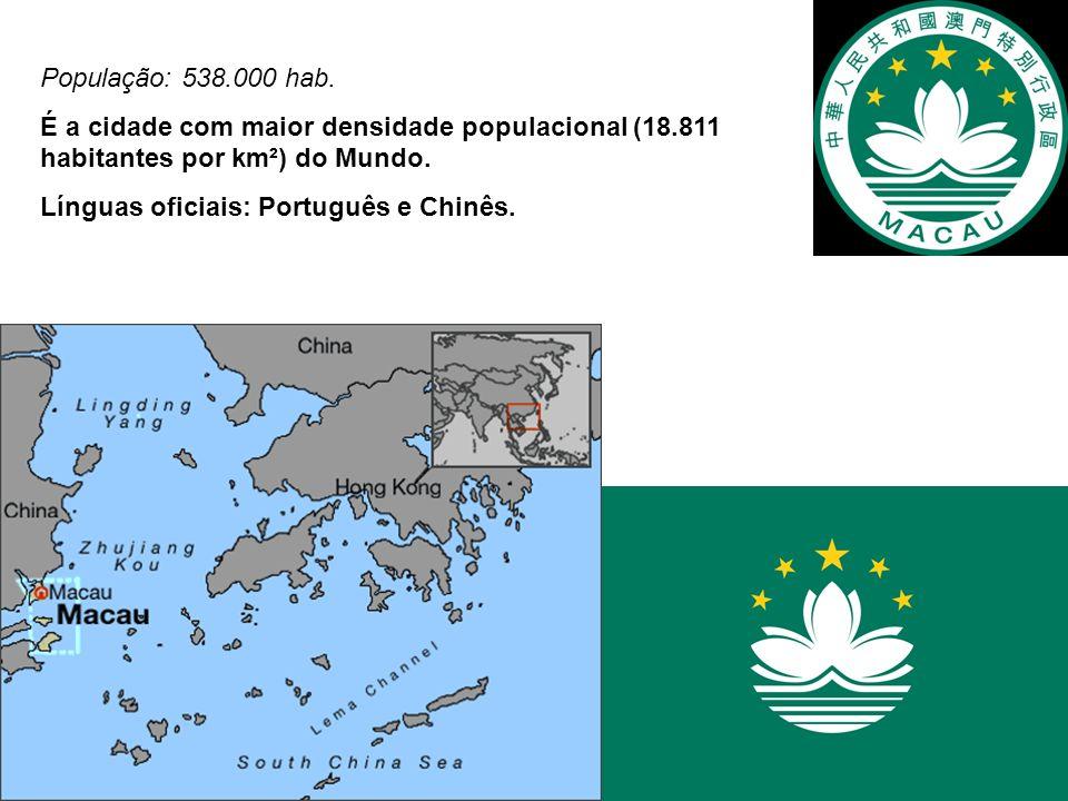 População: 538.000 hab. É a cidade com maior densidade populacional (18.811 habitantes por km²) do Mundo.