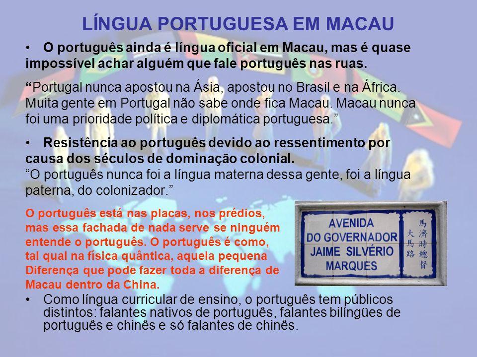 LÍNGUA PORTUGUESA EM MACAU