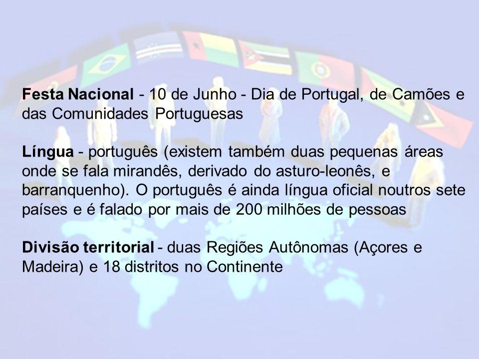 Festa Nacional - 10 de Junho - Dia de Portugal, de Camões e das Comunidades Portuguesas