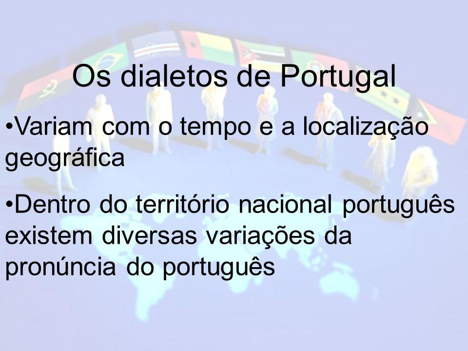 Os dialetos de Portugal