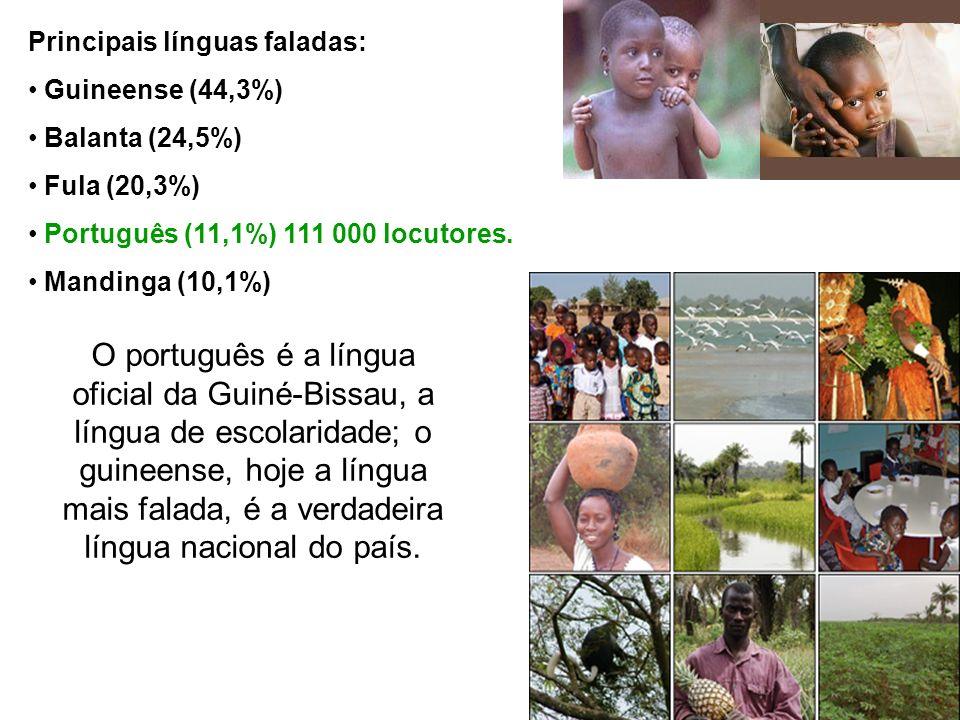 Principais línguas faladas: