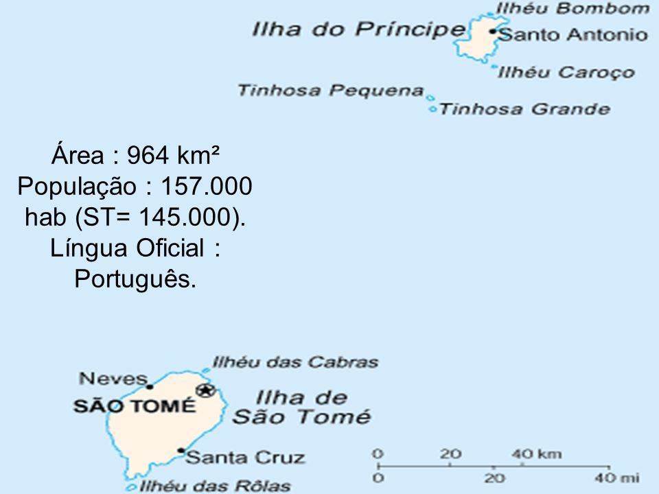 Área : 964 km² População : 157. 000 hab (ST= 145. 000)