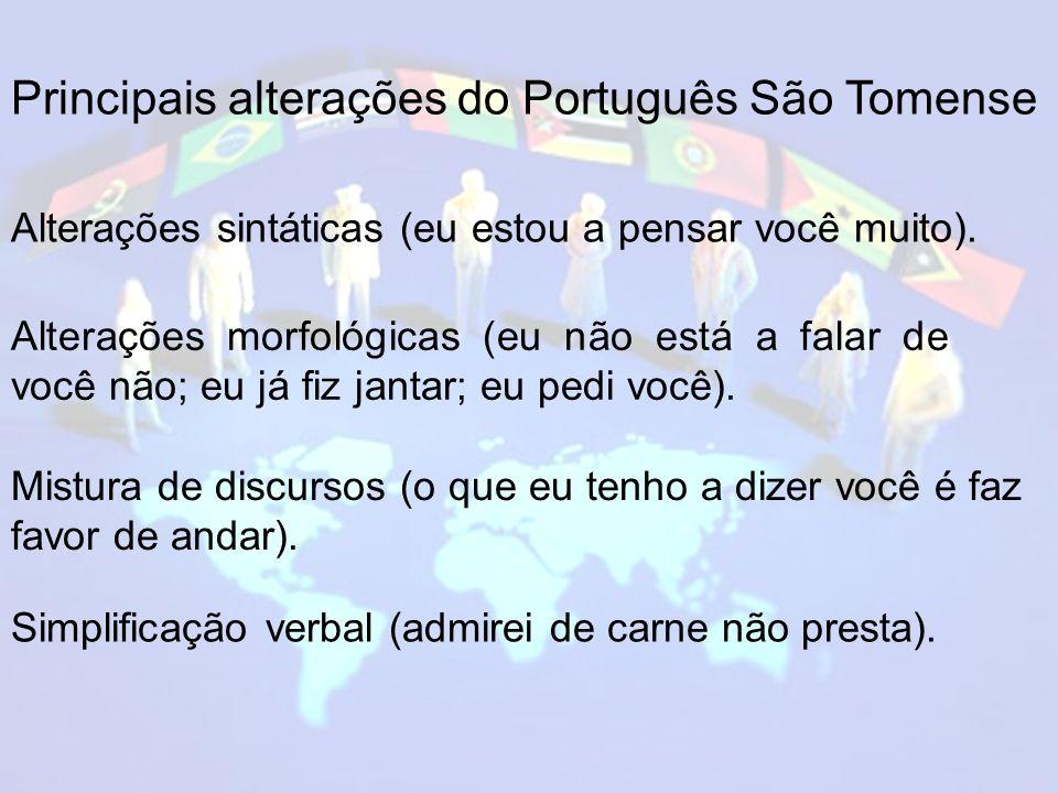 Principais alterações do Português São Tomense