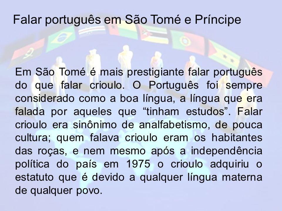 Falar português em São Tomé e Príncipe