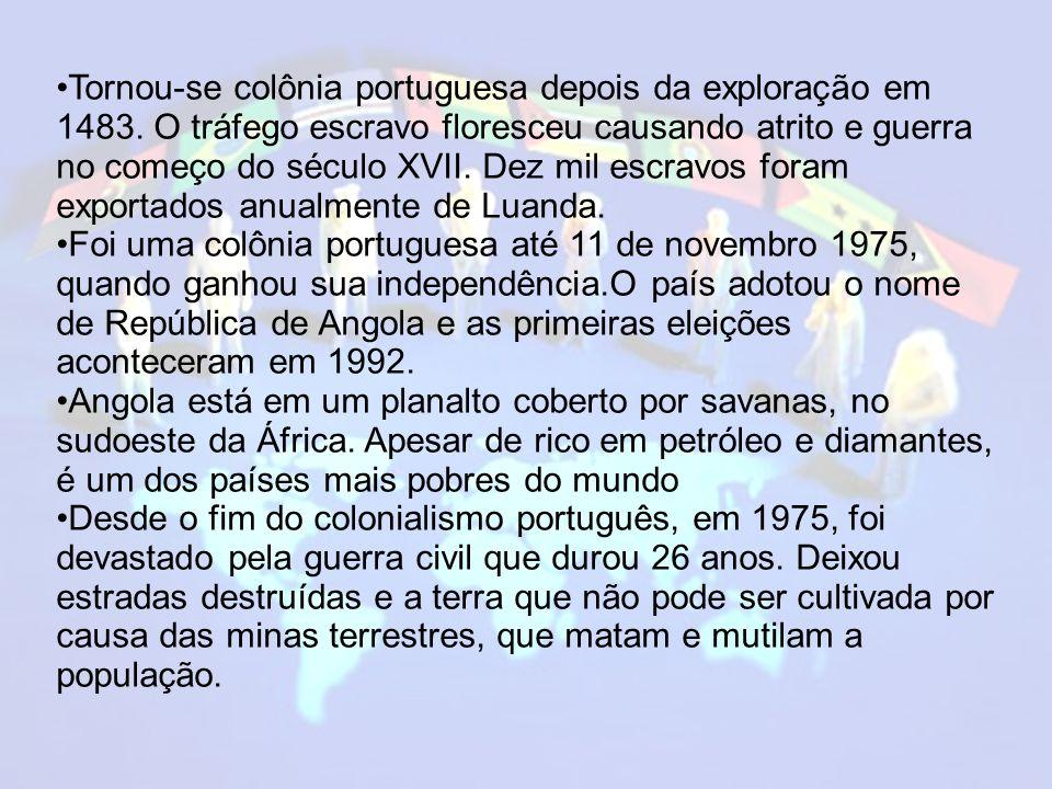 Tornou-se colônia portuguesa depois da exploração em 1483
