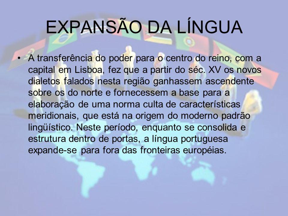 EXPANSÃO DA LÍNGUA