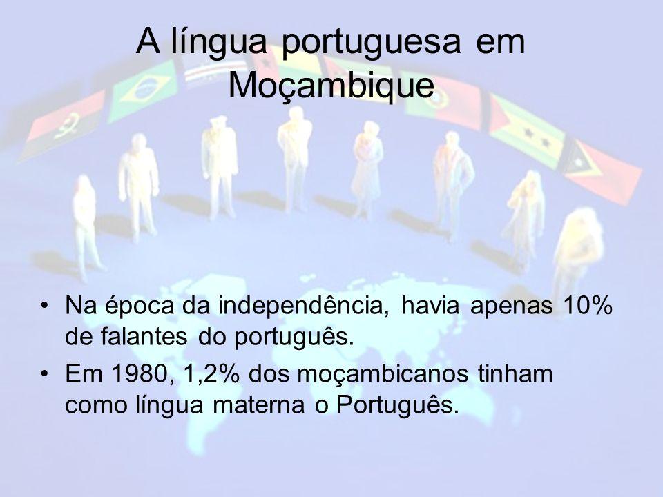 A língua portuguesa em Moçambique