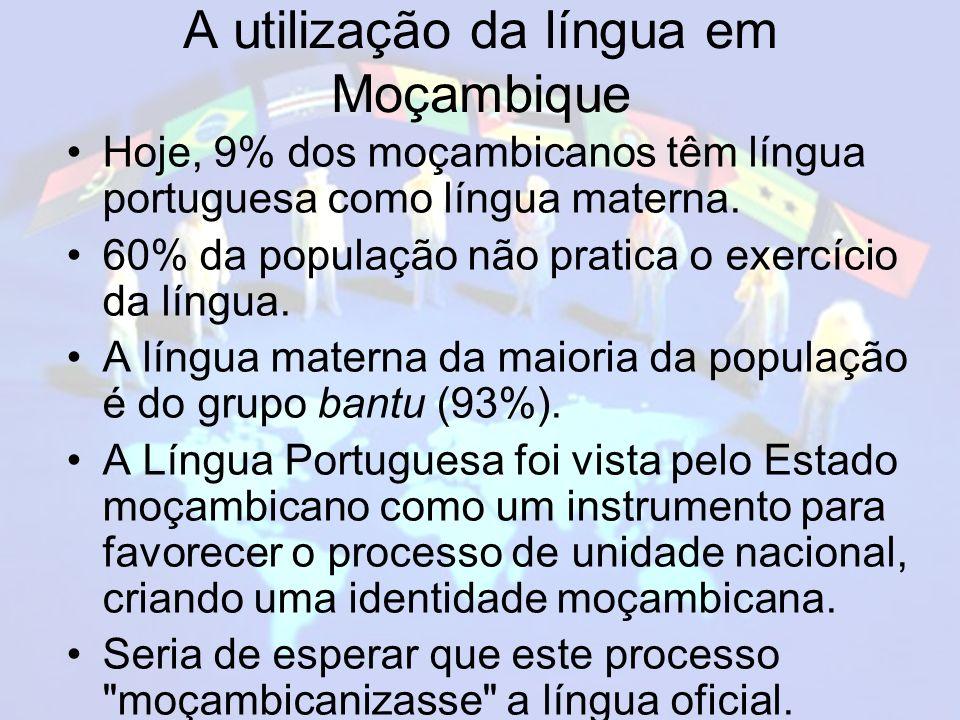 A utilização da língua em Moçambique