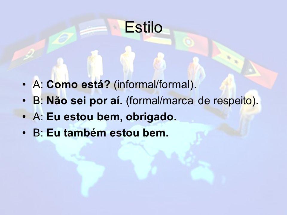 Estilo A: Como está (informal/formal).