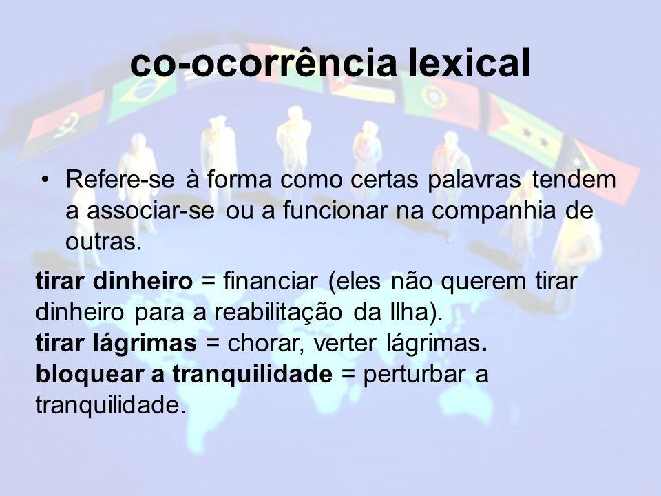 co-ocorrência lexical