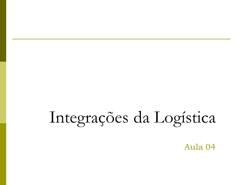 Integrações da Logística