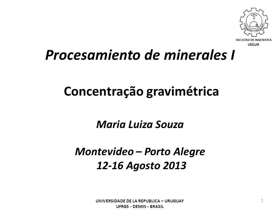 Procesamiento de minerales I Concentração gravimétrica
