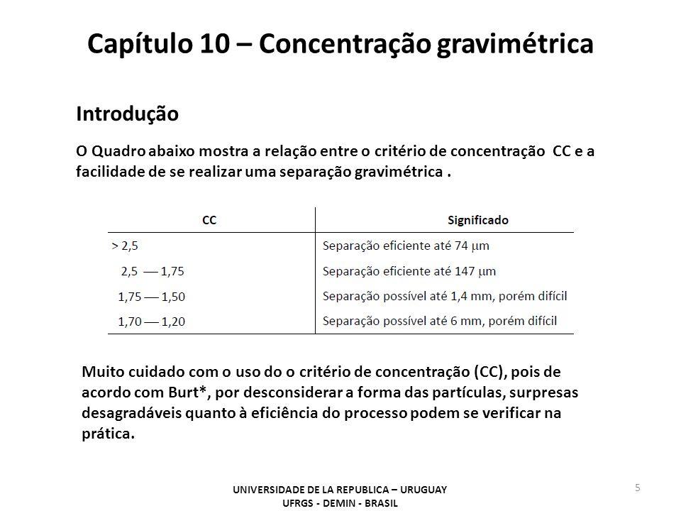 Capítulo 10 – Concentração gravimétrica