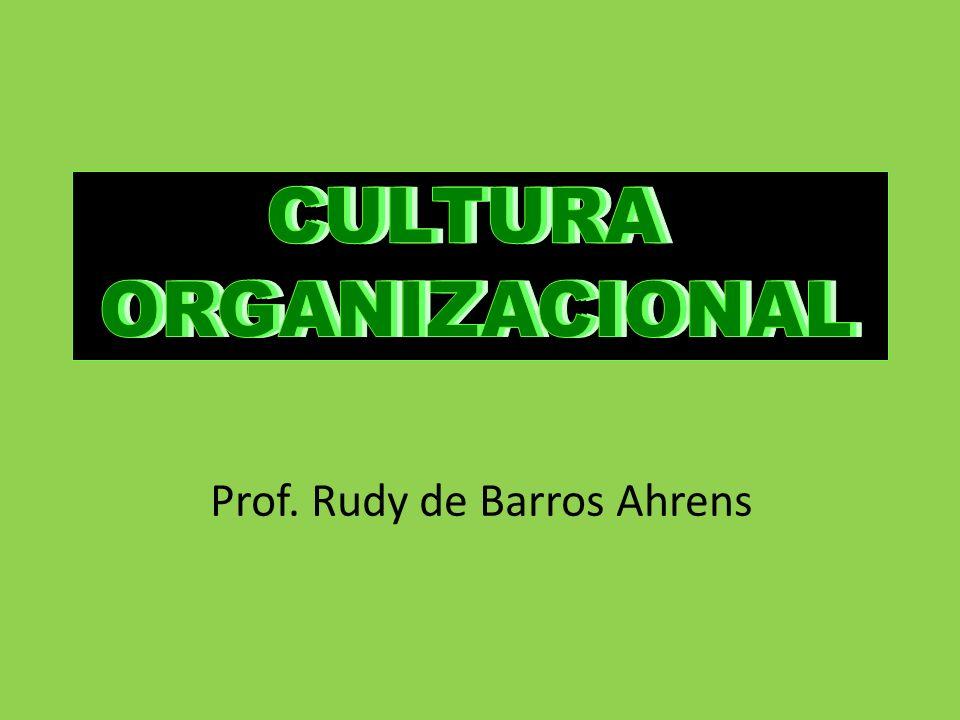 CULTURA ORGANIZACIONAL Prof. Rudy de Barros Ahrens