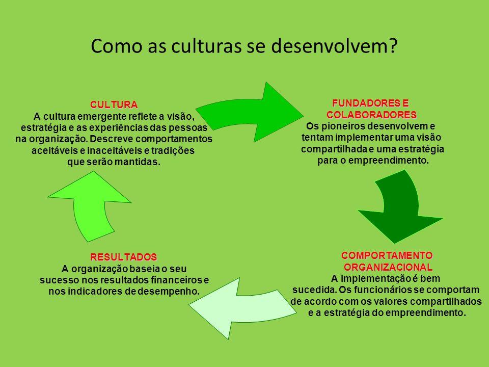 Como as culturas se desenvolvem