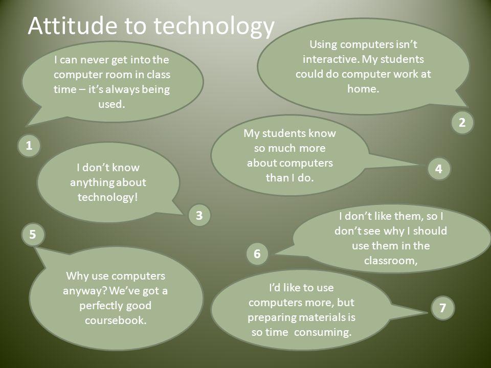 Attitude to technology