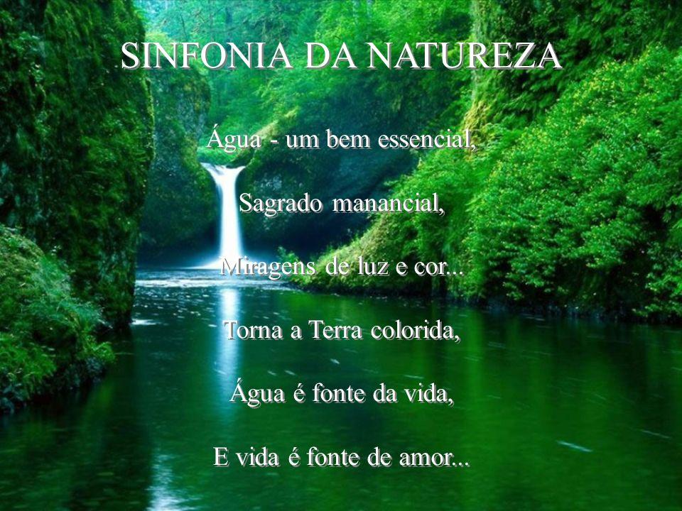 SINFONIA DA NATUREZA Água - um bem essencial, Sagrado manancial,