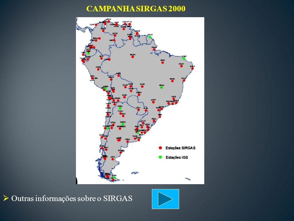 CAMPANHA SIRGAS 2000 Outras informações sobre o SIRGAS