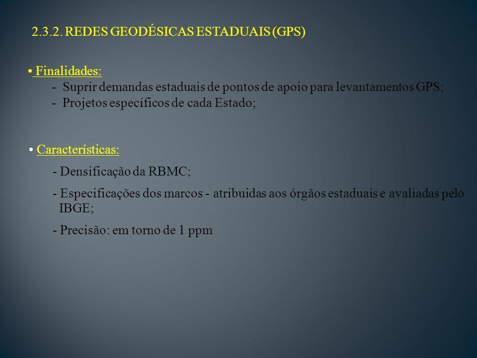 2.3.2. REDES GEODÉSICAS ESTADUAIS (GPS)