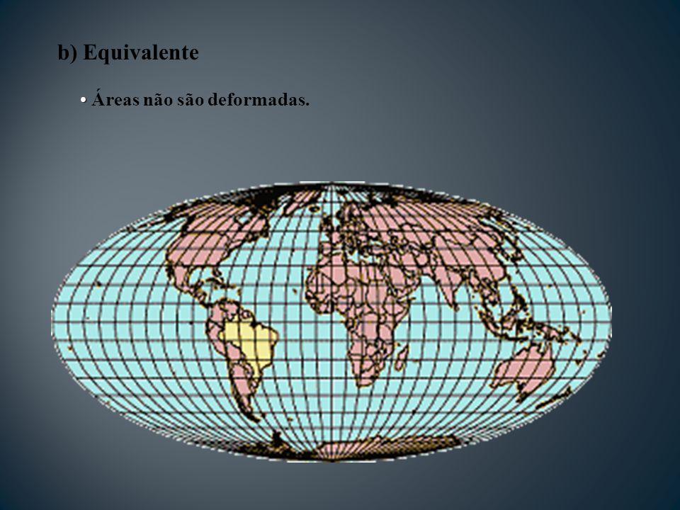 Áreas não são deformadas.