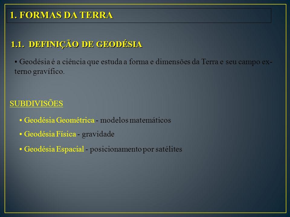 1. FORMAS DA TERRA 1.1. DEFINIÇÃO DE GEODÉSIA