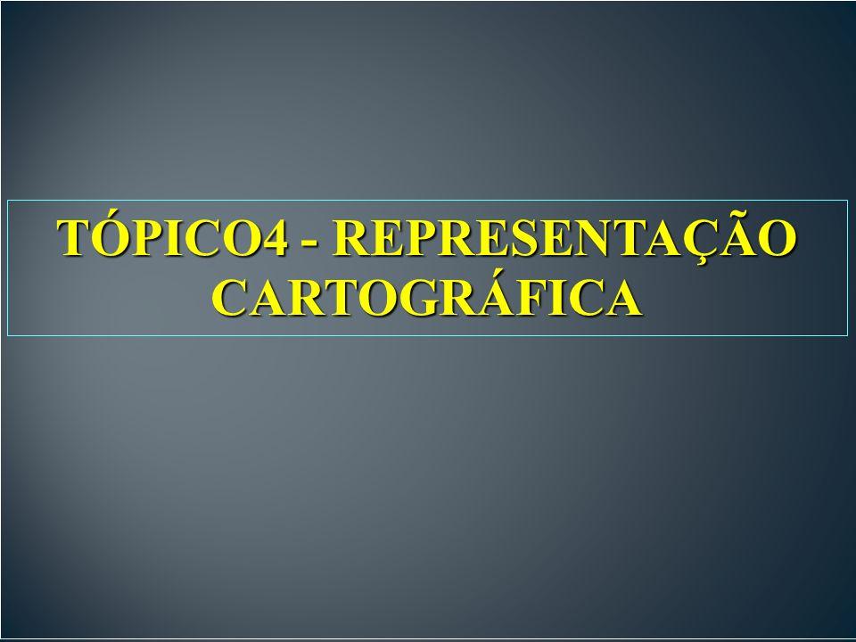 TÓPICO4 - REPRESENTAÇÃO CARTOGRÁFICA