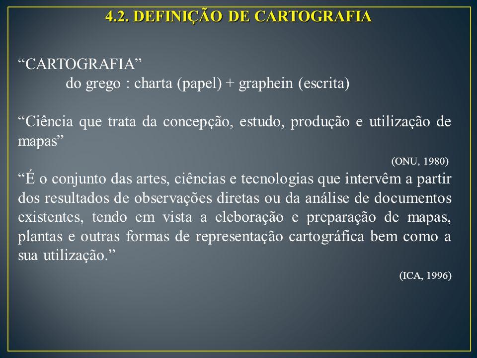 4.2. DEFINIÇÃO DE CARTOGRAFIA